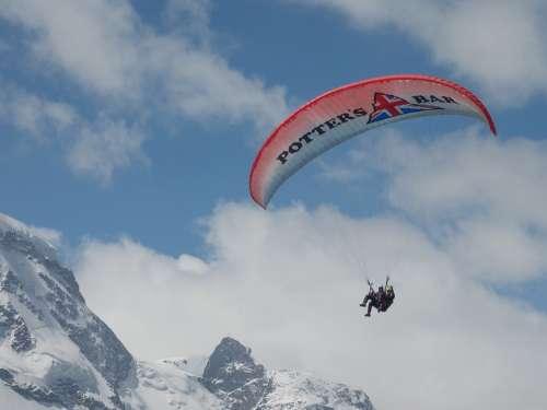 Paragliding Paraglider Pilot Floating Sailing