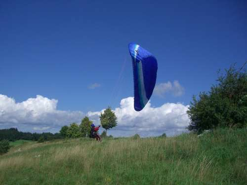 Paragliding Start Trial Pilot Paraglider