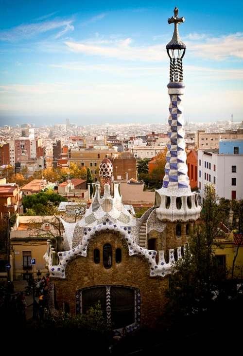 Parc Güell Gaudí Spain Barcelona Architecture