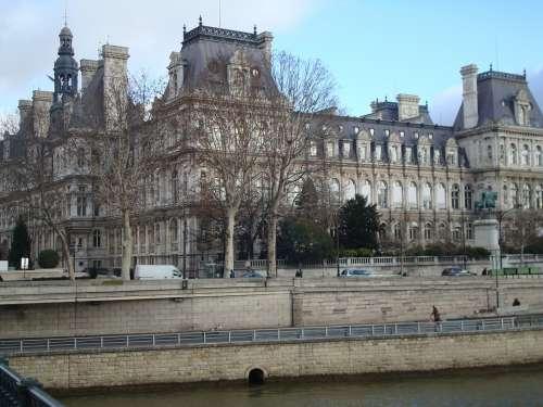 Paris Old Architecture Autumn River Siena