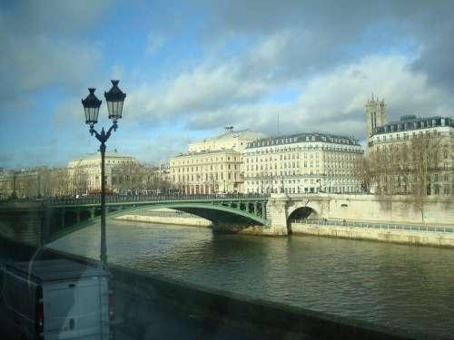 Paris Arquitetuta France Eiffel Seine River Bridge