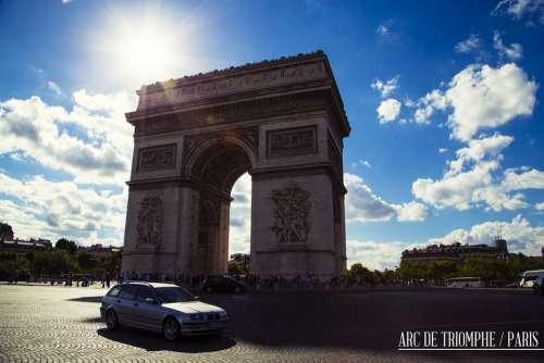 Paris France Arc De Triomphe Monument Architecture