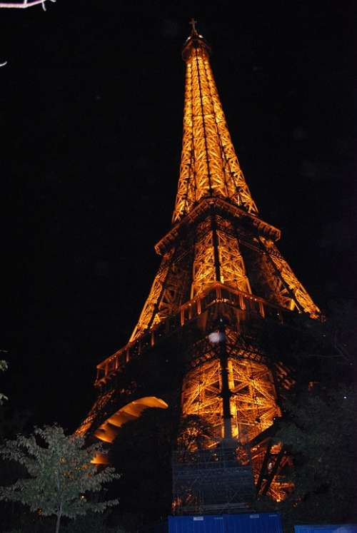 Paris Lights At Night Eiffel Tower