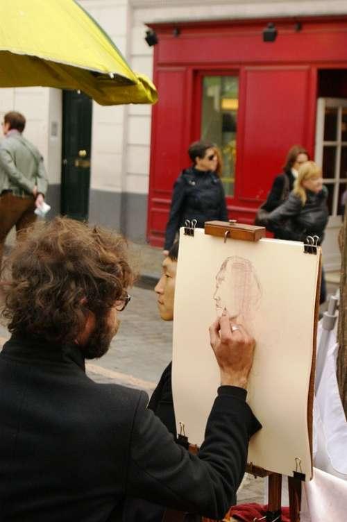 Paris Mound Montmartre Designer Portrait