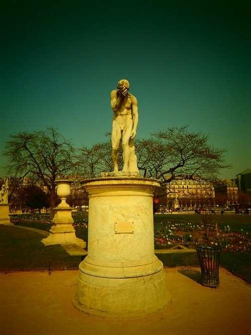 Paris Statue France Park