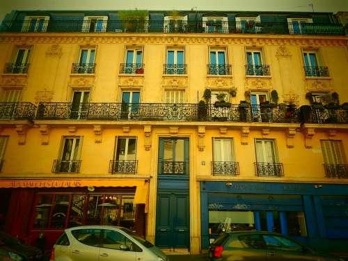 Paris France City Building House Facade
