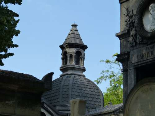 Paris Cemetery Père Lachaise Grave Rest Memorial
