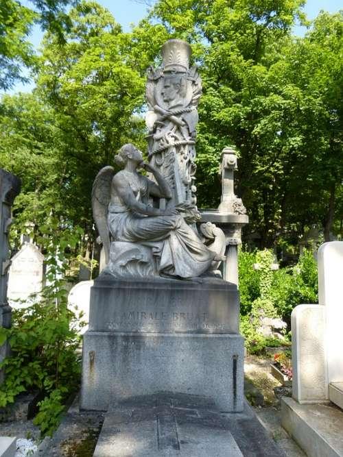 Paris Cemetery Père Lachaise Monument Grave Rest