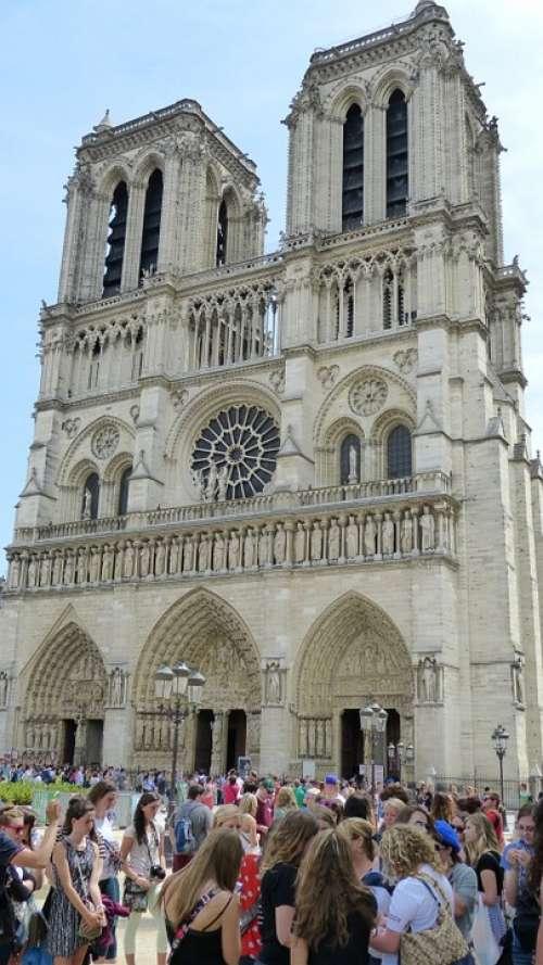 Paris Notre Dame Church Basilica Chapel Kirchplatz