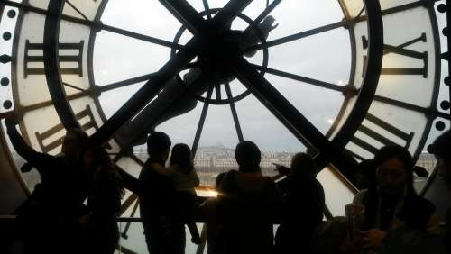 Paris Museum D'Orsay Clock Old Station
