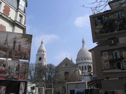 Paris Montmartre Place Du Tertre Painters