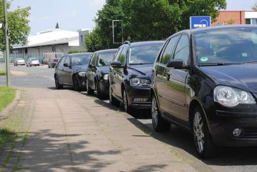 Park Side Of The Road Sidewalk Autos Traffic