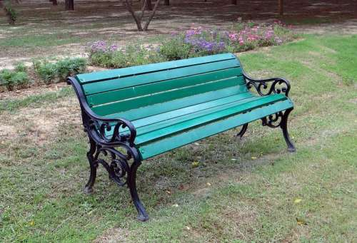 Park Bench Wooden Leisure Outdoor Furniture Relax