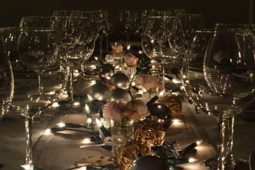 Party Table Decoration Wine Glasses Glass Slightly