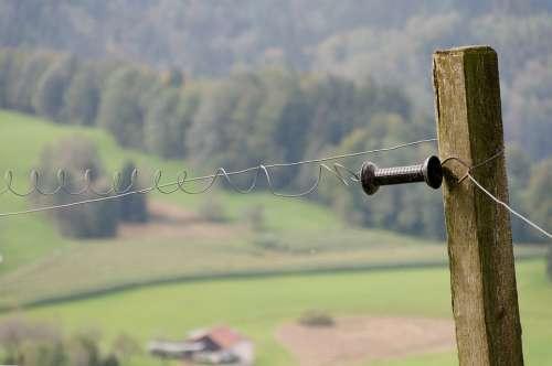Pasture Fence Electric Fence Switzerland Mountains