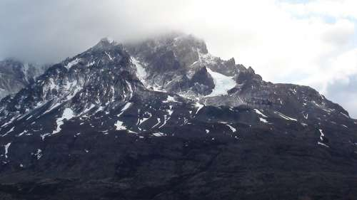 Patagonia Mountains Snow Nature South Andes