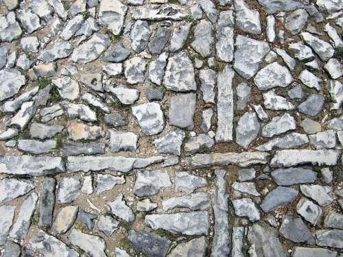 Patch Stones Paving Stones Cross Pattern