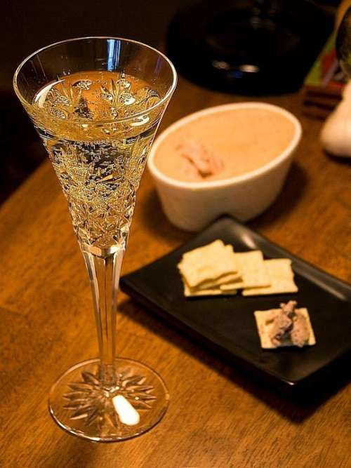 Pate Champagne Wine Drink Food