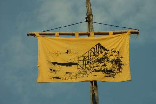 Path Finder Flag Sky Flagpoles Hoisted Hoist Flag