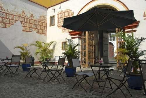 Patio Colonial Afternoon Coffee Bar Trujillo Peru
