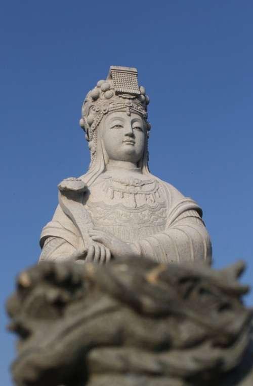 Patung Klenteng Kediri Jawa Timur Java Indonesia