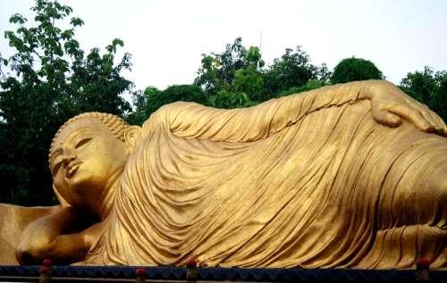 Patung Budha Maha Vihara Majapahit Mojokerto