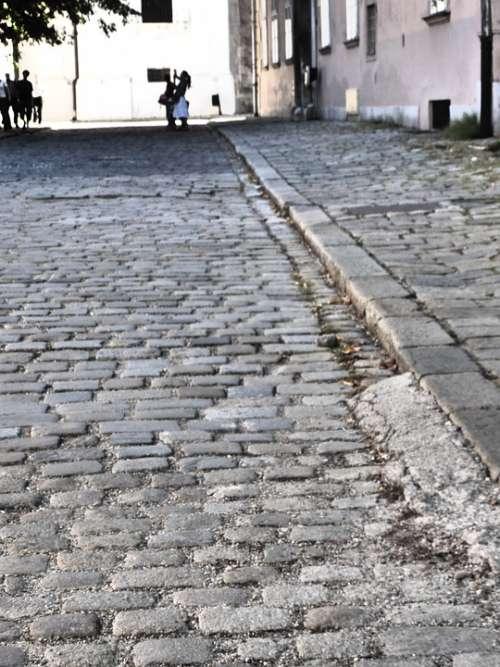 Paving Stones Road Away Pattern Paving Stone