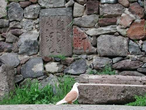 Peace Dove Armenia Stone Cross Katschberg Kar Dove