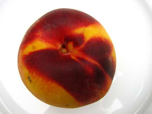 Peach Fruit Yellow Red Juicy Ripe Delicious