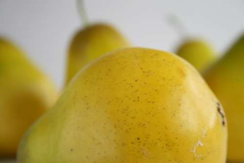 Pear Fruit Yellow Food