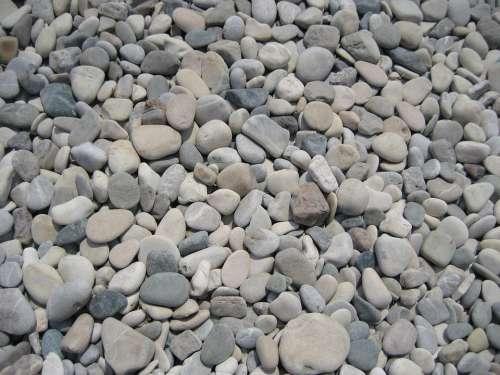 Pebbles Beach Stones Nature Round