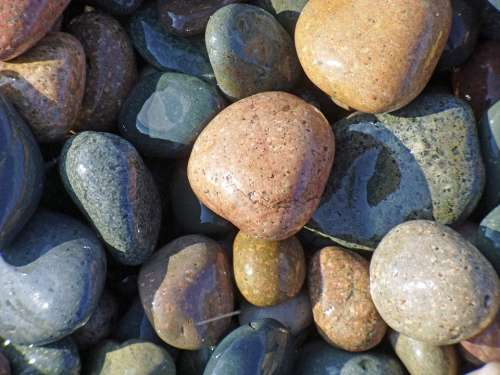 Pebbles Stone Rock Beach Texture Sea Sand Coast