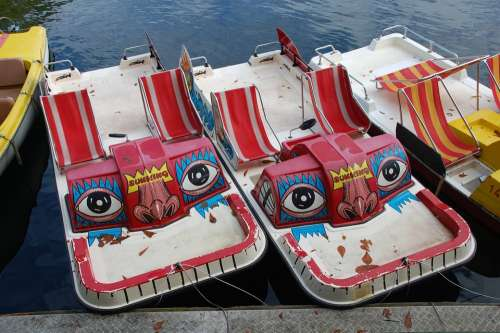 Pedal Boat Boats Face Fash Funny Water Mask Fun