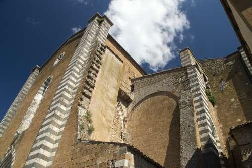 Pediment Church Italy Umbria