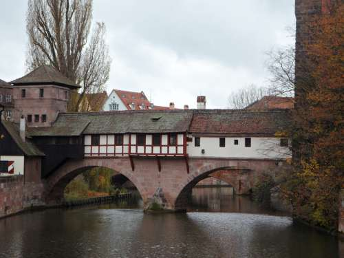 Pegnitz Nuremberg Historic Center Bridge River