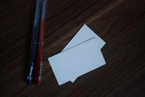 Pen Pens Gel Business Card Business Cards
