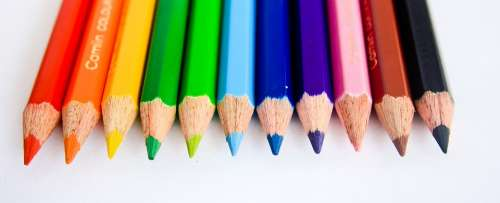 Pencils Colors Paint Draw Education School Design