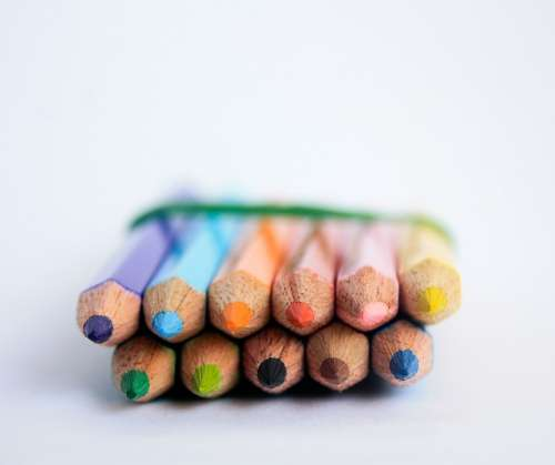 Pencils Drawing Pens Creative Creativity Colored