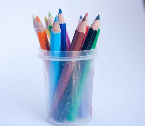 Pencils Spectrum Colors School Education Rainbow