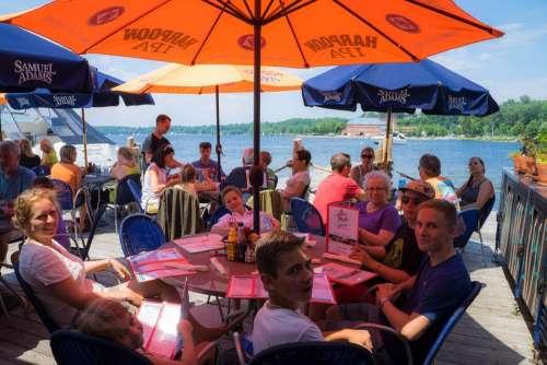 People Dinner Cafe Lake Champlain Burlington