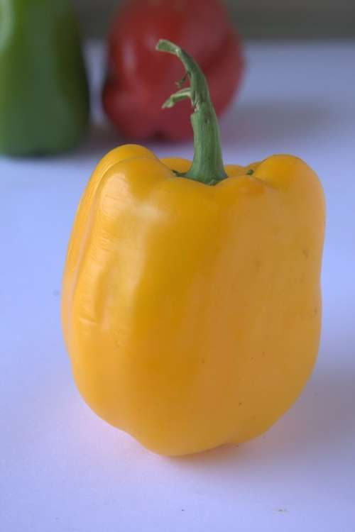 Pepper Yellow Capsicum Bell Pepper Vegetable Food