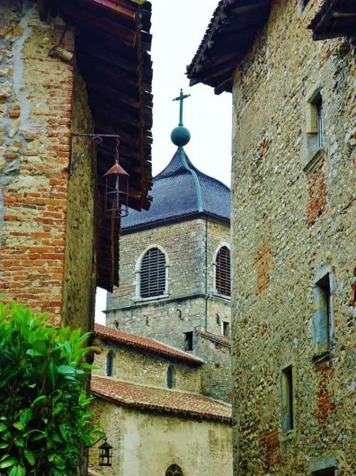Pérouges Village Good Looking France Medieval City
