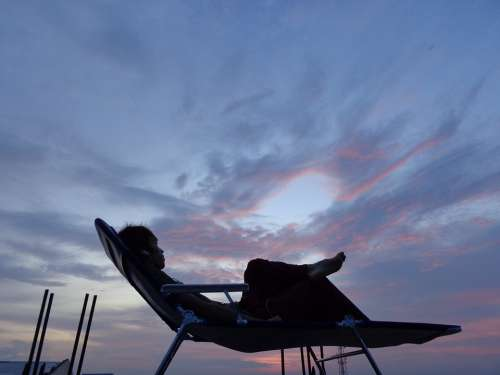 Person Relaxing Resting People Lifestyle Sky
