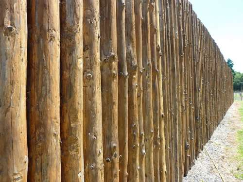 Perspective Fence Fort Wooden Texture Pattern