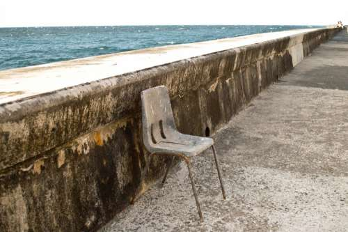 Perspective Malecon Chair Loneliness Old Time