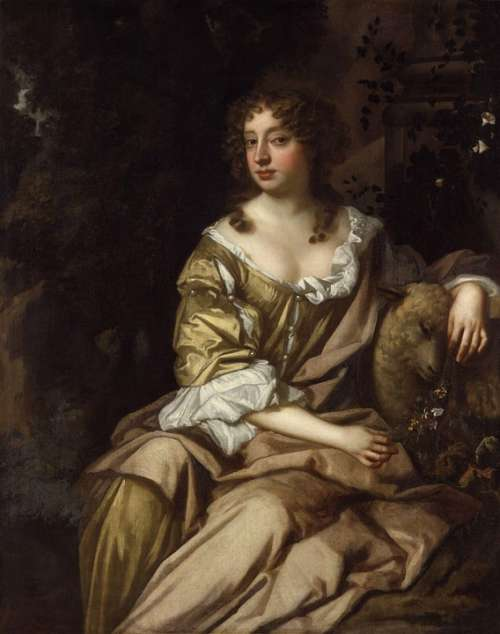 Peter Lely Woman Female Art Painting Oil On Canvas