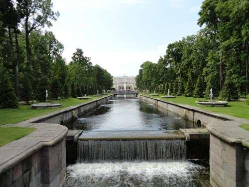 Peterhoff Russia Saint-Petersburg Park Water River