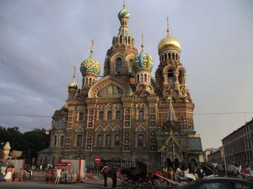 Petersburg Church Savior On Blood Russia