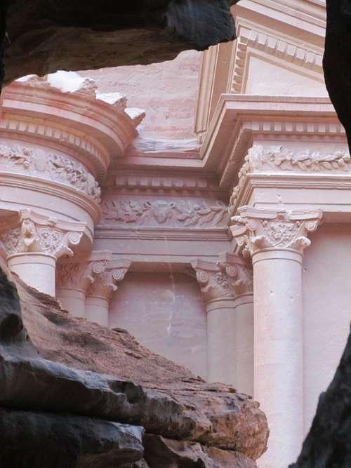 Petra Jordan Desert Rock Town Stone Ruin