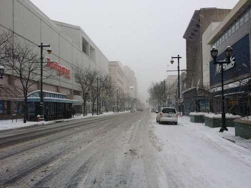 Philadelphia Snow City Downtown Urban Pennsylvania